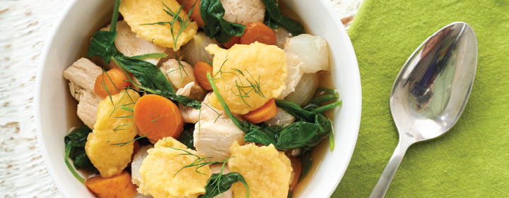 Poached Chicken With Squash Dumplings
