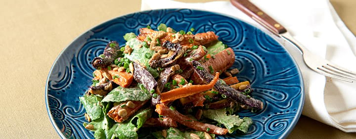 Roasted Carrot Salad With Kale