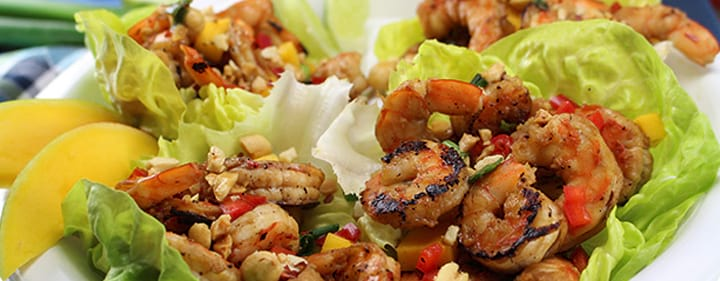 Lettuce Cups with Shrimp